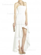 White Floor-length Chiffon Natural Bateau A-line Bridesmaid Dress