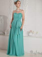 Jade Sweetheart A-line Floor-length Empire Chiffon Bridesmaid Dress