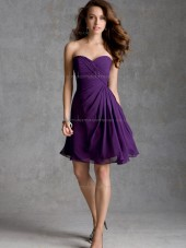 Forever Yours Multicolor Regency Chiffon Short-length Lace Bridesmaid Dress