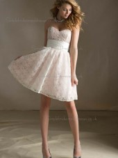 Romantica Daffodil Lace Sweetheart A-line Bridesmaid Dress
