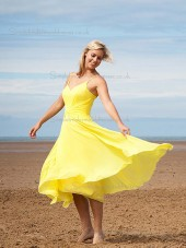 Stylish Chiffon V-neck A-line Bridesmaid Dress