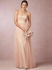 Best Pearl Pink Sweetheart Floor-length Bridesmaid Dresses