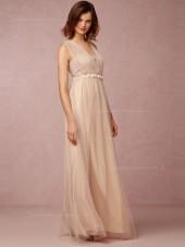 Online Sale A-line Hand Made Flower Bridesmaid Dresses