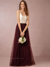 Seductive Fashion Hottest Burgundy Bateau Sleeveless Backless Bridesmaid Dresses