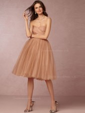 Lovely A-line Sweetheart Pearl Pink Natural Bridesmaid Dresses