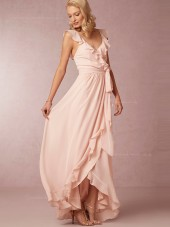 Artistic and Elegant A-line Chiffon Pearl Pink Bridesmaid Dresses
