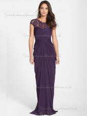Vintage Lace Sweep Regency Chiffon Bridesmaid Dresses