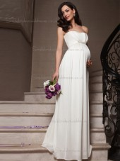 Beautiful Chiffon White Beading Floor-length Bridesmaid Dresses