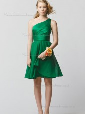 Cheap Stunning Green Short-length Chiffon Bridesmaid Dresses