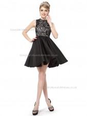 Online Celebrity A-line Lace Knee-length Bridesmaid Dress