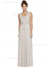Beautiful Amazing A-line oyster V-neck floor-length Chiffon Bridesmaid Dress
