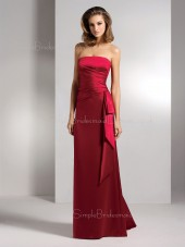 Backless Strapless Natural Ruffles Floor-length Bridesmaid Dress