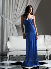 Sweetheart Sheath Draped/Ruffles Sleeveless Zipper Bridesmaid Dress