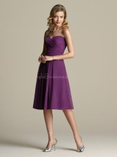 Sleeveless Draped/Ruffles Sweetheart Knee-length A-line Bridesmaid Dress