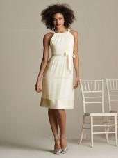 A-line Natural Ruffles/Sash Sleeveless Chiffon Bridesmaid Dress