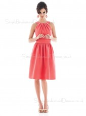 Natural Sleeveless Straps Zipper Pink Bridesmaid Dress