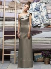 Natural Ruffles Sleeveless Zipper Sheath Bridesmaid Dress