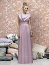 Empire Zipper Sleeveless Floor-length V-neck Bridesmaid Dress