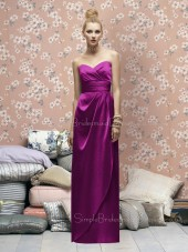 Draped/Ruffles Sweetheart Sleeveless A-line Floor-length Bridesmaid Dress