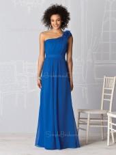Zipper Royal-Blue Draped/Ruffles Chiffon A-line Bridesmaid Dress