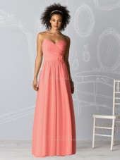 Chiffon Pink Zipper Natural Sleeveless Bridesmaid Dress