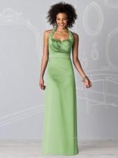 Empire Ruffles Sheath Zipper Floor-length Bridesmaid Dress