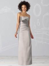 Floor-length Ruffles Sleeveless Silver Natural Bridesmaid Dress