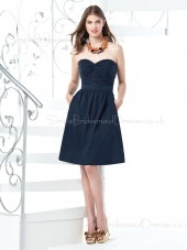 Chiffon Sweetheart Ruffles/Sash Zipper A-line Bridesmaid Dress