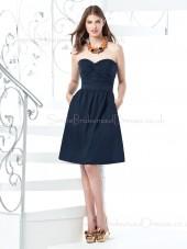 Chiffon Sweetheart Ruffles/Sash Zipper A-line Bridesmaid Dress