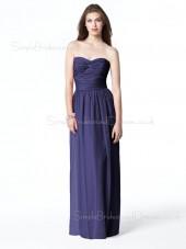 Sleeveless Chiffon A-line Draped/Ruffles Empire Bridesmaid Dress