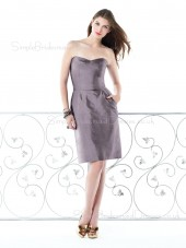 Natural Zipper Sweetheart Knee-length Ruffles Bridesmaid Dress