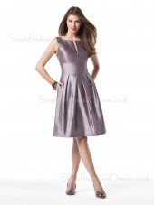 Draped/Ruffles A-line Bateau Empire Knee-length Bridesmaid Dress