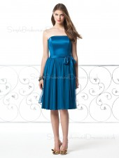 Zipper Natural Strapless Bow/Draped/Sash Sleeveless Bridesmaid Dress