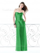 Ruffles Zipper Chiffon Sleeveless Sheath Bridesmaid Dress