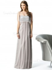 A-line Spaghetti-Straps Sleeveless Zipper Chiffon Bridesmaid Dress