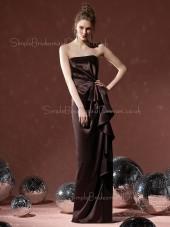 Natural Floor-length Sheath Zipper Sleeveless Bridesmaid Dress