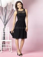 Natural A-line Lace Sash Sleeveless Bridesmaid Dress