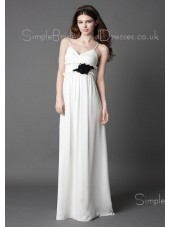 A-line Empire Floor-length Chiffon Spaghetti-Straps Bridesmaid Dress