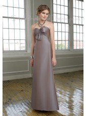Bow/Ruffles Sleeveless Satin Lace-up Sweetheart Bridesmaid Dress
