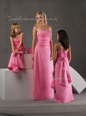 Strapless Ruffles/Sash Sleeveless Satin A-line Bridesmaid Dress