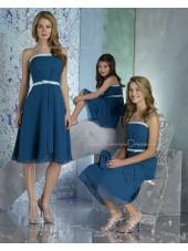 Draped/Ruffles/Sash Natural Blue Zipper Chiffon Bridesmaid Dress