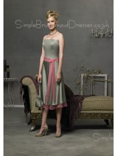 Elastic-Satin Natural Zipper Sleeveless Knee-length Bridesmaid Dress