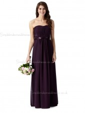 Debut beautiful Dark purple ruched maxi Bridesmaid Dress