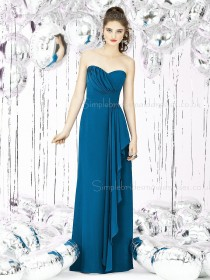 Empire Ruffles/Tiered Column Sheath Sweetheart Sleeveless Chiffon Hunter Knee-length Zipper Bridesmaid Dress