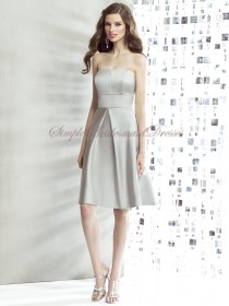 A-line Sash Knee-length Satin Silver Sleeveless Bateau/Strapless Zipper Natural taupe Bridesmaid Dress