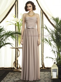 Strapless topaz Chiffon Draped/Sash Natural A-line Zipper Floor-length Champagne Sleeveless Bridesmaid Dress