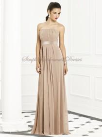 Zipper Strapless Empire Sleeveless Floor-length A-line Draped/Sash topaz Chiffon Champagne Bridesmaid Dress