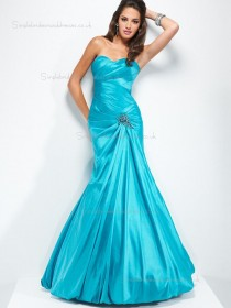 Pool Sweetheart Empire Floor-length Mermaid Taffeta Bridesmaid Dress