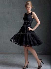 Sale Lace Bateau A-line Bridesmaid Dress