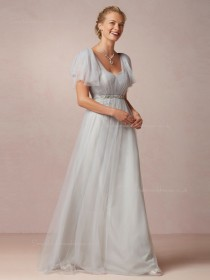 For Girls Sash A-line Floor-length Bridesmaid Dresses